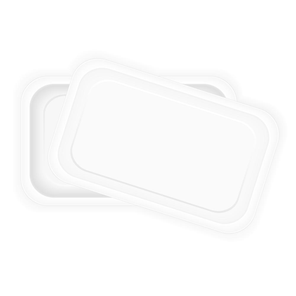 Conetendor de pástico rectangular bajo